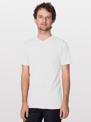 American Apparel USA Collection Adult Unisex 4.3 Ounce Fine Jersey Short Sleeve T-Shirt